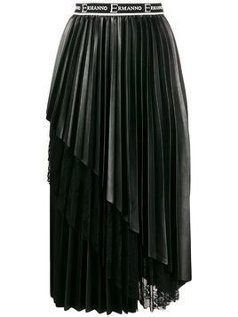 Ermanno Ermanno tiered lace pleated skirt - Black