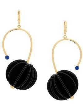 Marni geometric drop earrings - Black