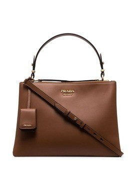 Prada double-zip tote bag - Brown