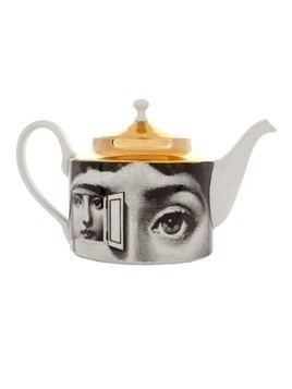 Fornasetti Printed porcelain tea pot - White