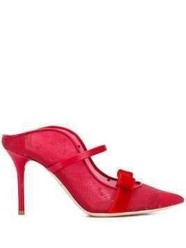 Malone Souliers Marguerite Luwolt 85-1 mesh pumps - Red
