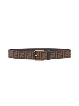 Fendi embossed Double F logo belt - Brown
