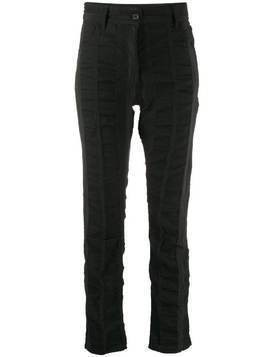 Ann Demeulemeester smocked panel slim fit trousers - Black