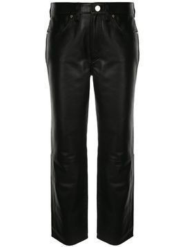 GOLDSIGN straight-leg cropped trousers - Black