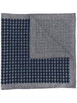 Borrelli houndstooth knitted scarf - Grey