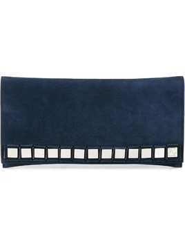 Tomasini mirror embellished clutch - Blue