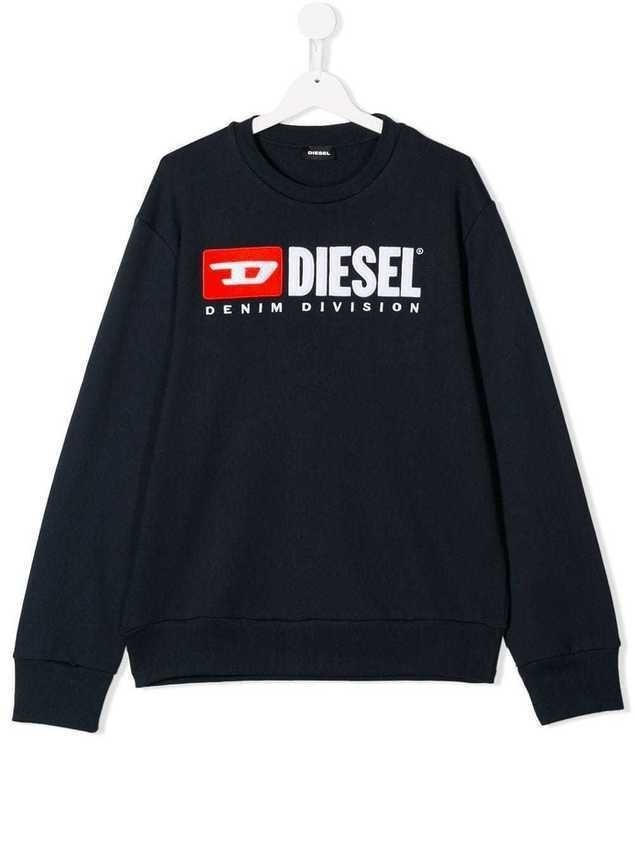 Diesel Kids logo sweatshirt - Black