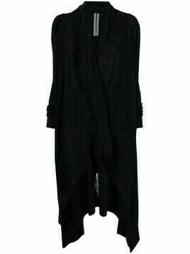 Rick Owens elongated draped cardigan - Black
