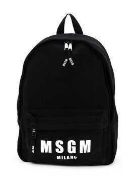 Msgm Kids logo print backpack - Black
