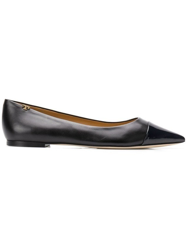 Tory Burch pointed toe ballerina pumps - Black