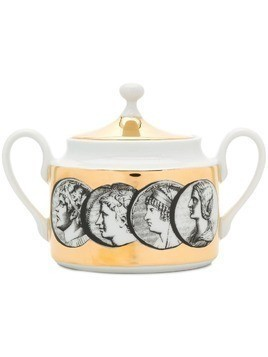 Fornasetti printed sugar bowl - White