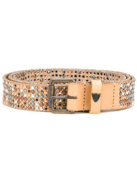 Htc Los Angeles studded belt - Neutrals