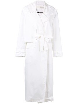 Isabel Benenato oversized trench coat - White