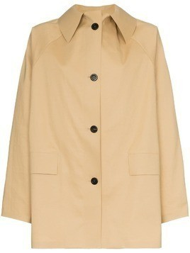 Kassl button down trench coat - Nude & Neutrals