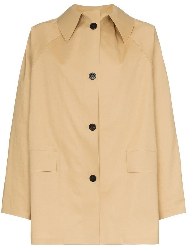 KASSL Editions button down trench coat - Neutrals