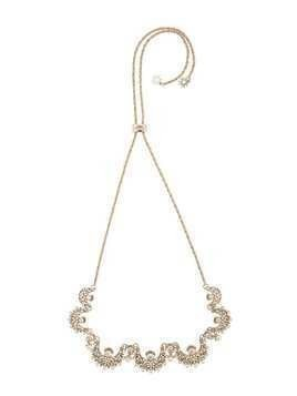 Marchesa Notte pearl embellished necklace - Metallic