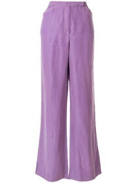 Emanuel Ungaro Pre-Owned wide leg trousers - PURPLE