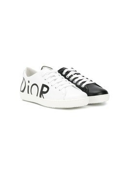 Baby Dior two-tone logo sneakers - White