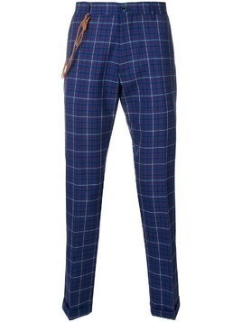 Berwich checked slim-fit trousers - Blue