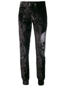 Philipp Plein skull track trousers - Blue