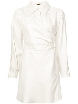 Cult Gaia wrap shirt dress - Nude & Neutrals