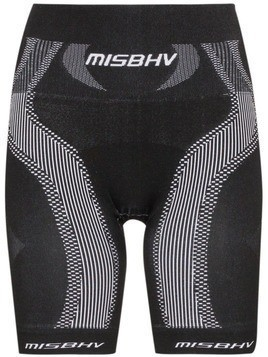 Misbhv high-waisted sport knit shorts - Black