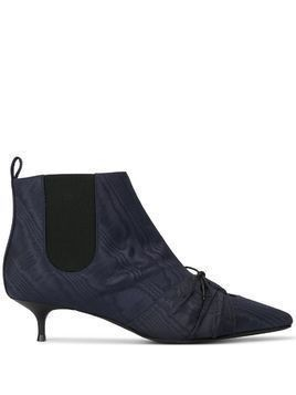 Rosie Assoulin cut out ankle boots - Blue