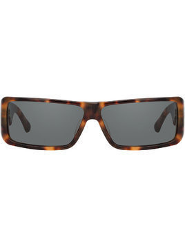 Linda Farrow Dries Van Noten rectangular sunglasses - Brown