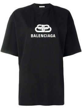 Balenciaga oversized BB T-shirt - Black