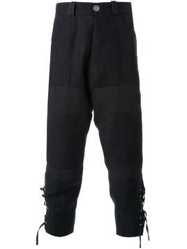 Aganovich tapered cropped trousers - Black