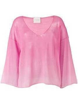 Fine Edge sheer top - Pink
