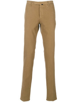 Incotex - classic chinos - Herren - Cotton/Spandex/Elastane - 56 - Brown
