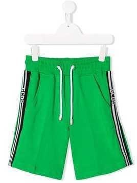 Gcds Kids drawstring-waist track shorts - Green
