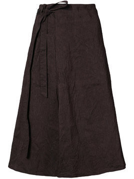 Forme D'expression striped side tie skirt - Pink