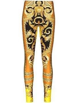 Versace Baroque print leggings - Brown