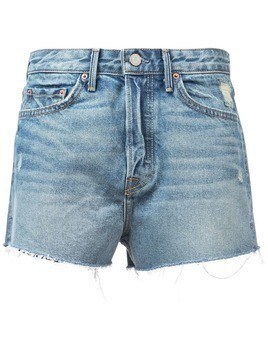 Grlfrnd Cindy distressed denim shorts - Blue