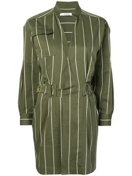 Derek Lam 10 Crosby striped utility dress - Green