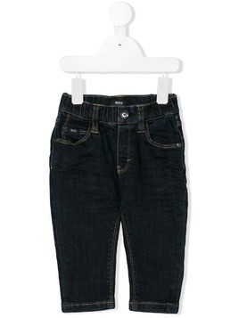 Boss Kids straight-leg jeans - Blue