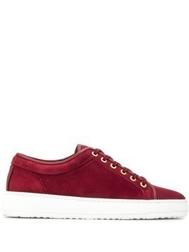 Etq. flat lace-up sneakers - Red