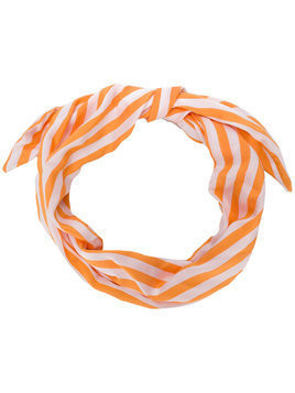 Cult Gaia striped head scarf - Yellow & Orange