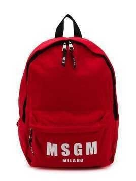 Msgm Kids logo print backpack - Red
