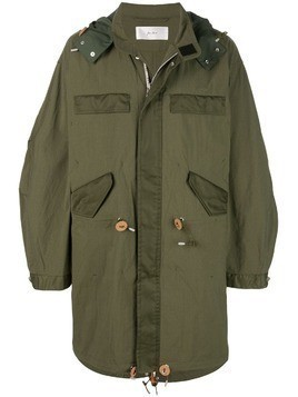 Julien David oversized parka - Green