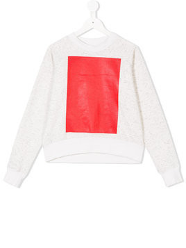 Ioana Ciolacu Kids colour-block sweatshirt - White