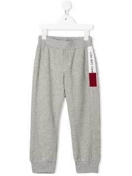 Lapin House side stripe straight-leg track pants - Grey