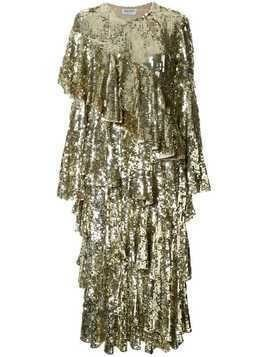 Osman embellished flared midi dress - Gold