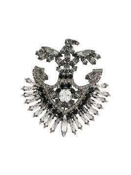 Ermanno Scervino crystal embellished brooch - Metallic