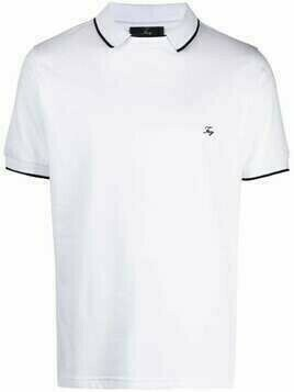 Fay logo embroidered polo shirt - White