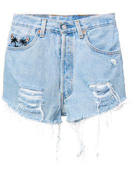 Chiara Ferragni 1987 denim shorts - Blue
