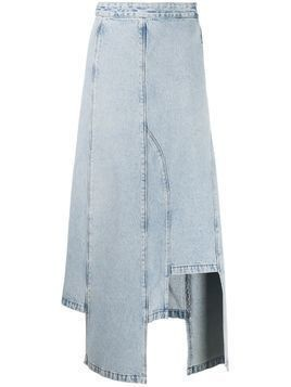 Ssheena bleached denim skirt - Blue
