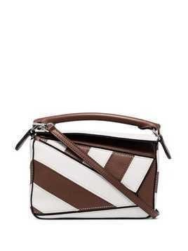 Loewe mini Puzzle shoulder bag - Brown